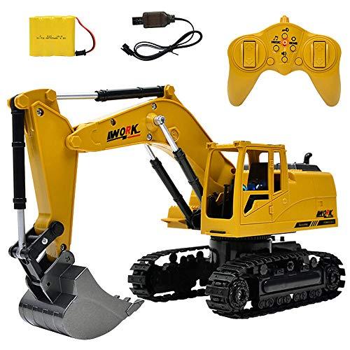 RC Auto kaufen Kettenfahrzeug Bild: Hunpta@ Fernbedienung Auto 1:14 rc LKW 15 Kanal voll funktionale Fernbedienung Bagger Bau Traktor Spielzeug Geschenk (A)*