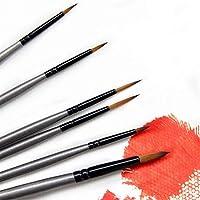 NOBRAND 6 Piezas Kit de Pinceles de Pintura con Pincel de Detalle Fino Mini Set para acrílico, Acuarela, Aceite, Cara, uñas, Pintura a Escala, Dibujo Lineal