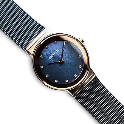 BERING Reloj Analógico para Mujer de Cuarzo con Correa en Acero Inoxidable 10126-367