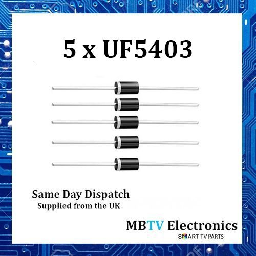 5x uf5403Diode 300V 3AMP Stromversorgung do-2Weich Recovery–ultraschneller Kunststoff Gleichrichter–5Stück (3 Stromversorgung Amp)