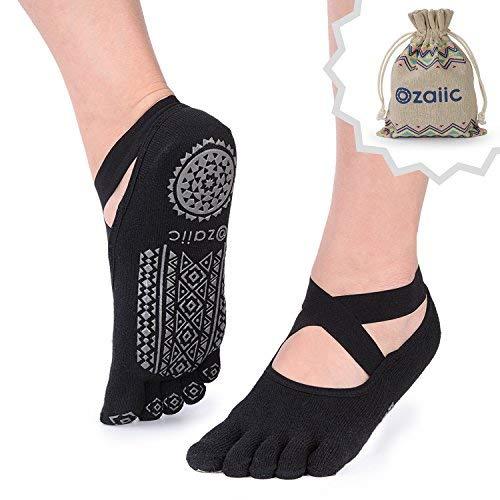 Ozaiic-Femmes-Yoga-Chaussettes-Chaussettes-de-Danse-et- 5ca0166dba6