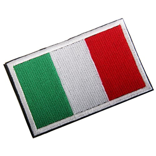 Generic bandiera badge patch ricamata tattico ricamo hook loop distintivo badge - italiana