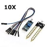 Ils - 10 Stück Boden Hygrometer Feuchtigkeitserfassung Feuchtesensor für Arduino