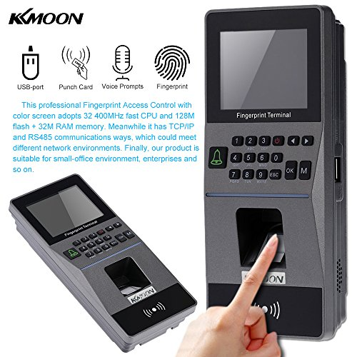 KKmoon Serratura Biometrica di Impronta Digitale Sistema di Controllo Accessi TCP/IP, RS485 Presenze Macchina Elettrica RFID Scheda Lettore