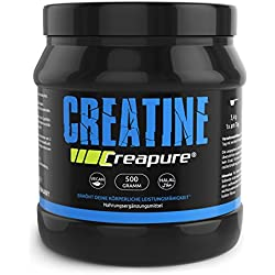 Gym-Nutrition CREAPURE CREATINE Monohydrat Pulver Für Bodybuilder Und Sportler I höchsten deutschen Standards I 500g I Vegan & Halal I 99,99 % Reinheit von Gym Nutrition I Made in Germany