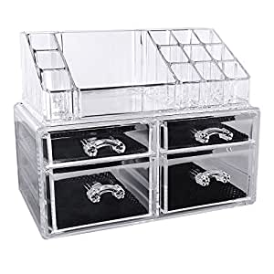 songmics acryl kosmetik aufbewahrung organizer schubladen jka005 beauty. Black Bedroom Furniture Sets. Home Design Ideas
