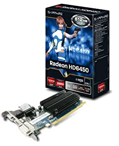 Sapphire 11190-01-20G HD 6450 512MB DDR3 Graphics Card