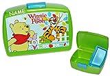 Brotdose - ' Winnie Pooh ' - incl. Namen - mit extra Einsatz - Brotbüchse Küche Essen für Mädchen Jungen Kinder Vesperdose Lunchbox - Puuh der Bär Tigger Ferkel Brotkasten für Vesper Frühstück Brotzeitdose / Brotzeitbox