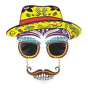 WIDMANN?Gafas Calavera Dia de los muertos para adultos, talla única, vd-wdm14403