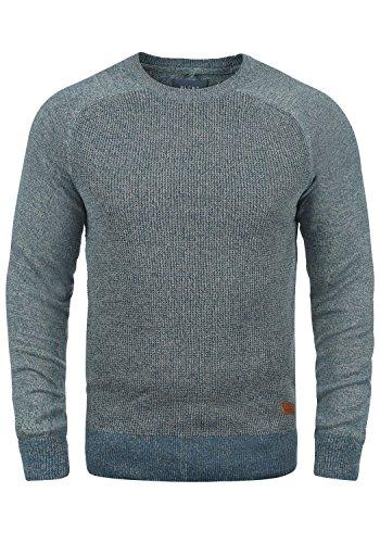 Blend Gandolf Herren Strickpullover Feinstrick Pullover Mit Rundhals Und Melierung Aus 100% Baumwolle, Größe:XL, Farbe:Ensign Blue (70260) -