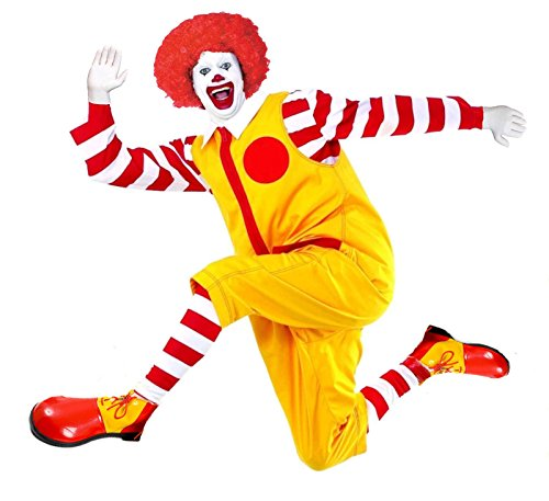 ronald-clown-o-hamburglar-natale-circus-fancy-dress-costume-completo-red-yellow-black-white-s-m-rona