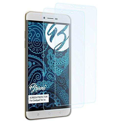 Bruni Schutzfolie für Coolpad Torino Folie, glasklare Bildschirmschutzfolie (2X)