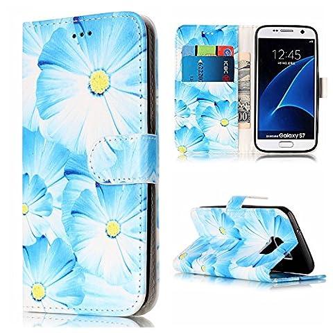 KANTAS PU Ledertasche für Samsung Galaxy S7 Brieftasche Hülle Flip