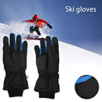 ZhongYe Touch Screen Ski Gloves Waterproof Unisex Winter Warm 3M Thermal Insulation for Outdoor Skiing Snowboarding Motorcycling Cycling Outdoor Sports Gifts for Men Women