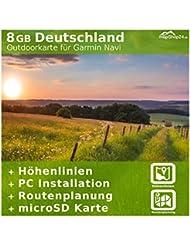 8 GB Deutschland Topo Karte - Für Garmin Edge 800 & 810 - Nur original über mapshop24