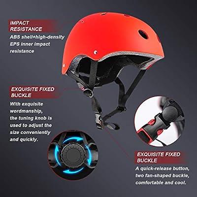 XJD Kombi Kinder Fahrradhelm Klassiker 1.0 + 6 Schutzausrüstung Schonerset für Kinderroller Skateboard Radfahren 3-13 Jahre alt