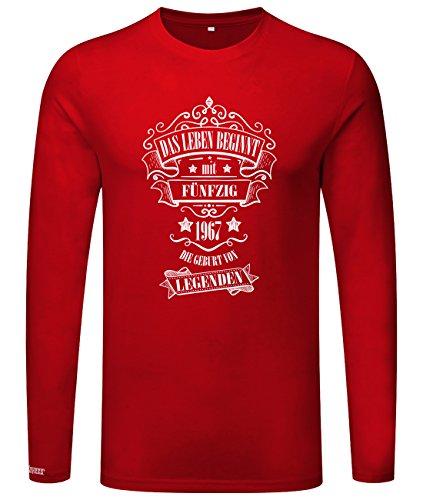 Das Leben beginnt mit 50 - 1967 - Geburt von Legenden - Herren Langarmshirt Rot