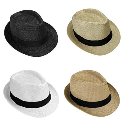 CFHJN-hat Home Panamahut der Frauen der Männer Hut-moderner Sommer Sun-beiläufiger Hut-Strand-Hut-Strohhut-Jazzhut der Männer Hut (Color : Mix Farben, Size : One Size) -