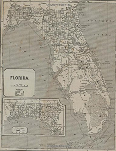 1842 Florida Map College Ruled Notebook 8.5