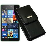 Vertikal Tasche für / Microsoft Lumia 535 / Handytasche mit einer Gürtelschlaufe auf der Rückseite