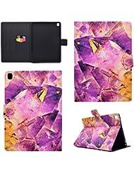 Coque Apple iPad Pro 9.7, BONROY® Smart Case Coque pour Apple iPad Pro 9.7 TPU Souple Bumper Fermeture Magnétique avec Function Veille Automatique Etui Housse Case Cover pour Apple iPad Pro 9.7 - purple crystal