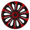 RKK06 Multi-Color Line (Schwarz-Rot) Radkappen / Radzierblenden 4 Stück