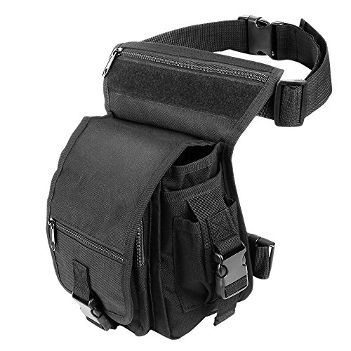 Hüfttasche Beintasche ELEPOWSTAR für Camping, Wanderung, Bergsteigen (schwarz)
