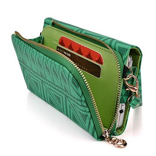 Kroo Pochette/Tribal Urban Style Étui pour téléphone portable compatible avec Lenovo s856 Multicolore - Brun Multicolore - vert