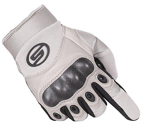 Seibertron Motorrad Handschuhe Herren Vollfinger Army Taktische Gloves Ideal für Airsoft, Militär,Paintball,Airsoft (Khaki,M)