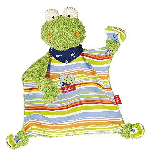 sigikid, Mädchen und Jungen, Schnuffeltuch Frosch, Fortis Frog, Grün/Mehrfarbig, 48934