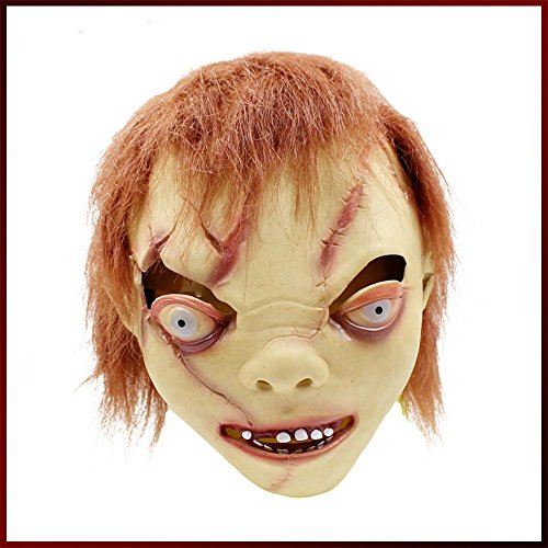 SQCOOL Halloween-Maske verkleiden sich Requisiten Latex Kopf-Sets Horror schlechte Kind Maske Thriller (Killer Zombie Kid Kostüm)