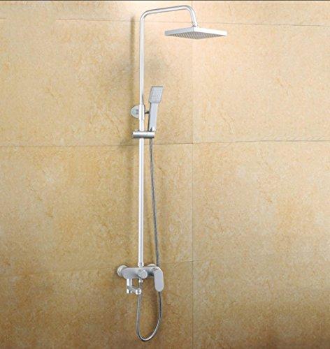 Preisvergleich Produktbild Caribou 3 - Einstellung der Raum Aluminium Badezimmer Luxus Regen Mixer Duschkombination bleifreien Multifunktionsdrucker Dusche system