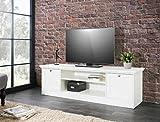 expendio Lowboard Landström 17 weiß 160x48x45 cm TV-Board TV-Schrank TV-Möbel Wohnzimmer Jugendzimmer Landhausmöbel