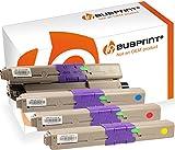 Bubprint 4 Toner kompatibel für Oki 46508716 46508715 46508714 46508713 für C332DN C332 DN MC363DN MC363 DN MC363N Schwarz Cyan Magenta Gelb