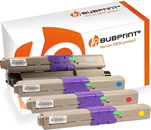 Oki-magenta-laser (Bubprint 4 Toner kompatibel für Oki 46508716 46508715 46508714 46508713 für C332DN C332 DN MC363DN MC363 DN MC363N Schwarz Cyan Magenta Gelb)