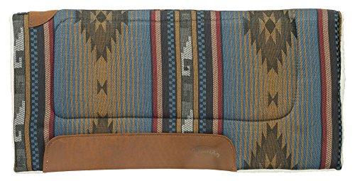 Weaver Leder Allzweck Sattel Pad mit Filz Einsatz und Merino Wolle Fleece Unterseite, n/a, Blue Navajo