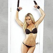 Muñecas de la muñeca de la puerta Ventana que cuelga los puños de la mano Fetiche BDSM Bondage las restricciones, juguetes del sexo para las parejas
