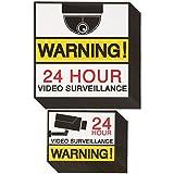 Best Paper Greetings 20-pack, Videoüberwachung, Kamera mit, 24Stunden Warnzeichen-Aufkleber für die Heim-Anwendung, 2verschiedene Größen