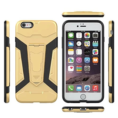 UKDANDANWEI Apple iPhone 5 Hülle, 【Armor Man】Hybrid Armour Tough Stil Dual LayerDefender PC Bumper Handyhülle Cases mit Ständer [stoßfest Fall] für Apple iPhone 5 - Silber Türkis