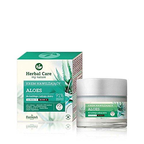 HERBAL CARE Face Care Moisturising and Smoothing Aloe Vera Day and Night Cream - Long Lasting Moisturising Cream