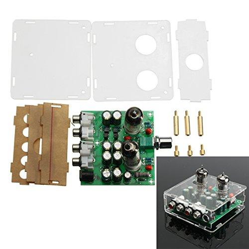 ILS - AC 12V 6J1 Ventil Vorverstärker Röhren Vorverstärkerplatine Kopfhörer-Verstärker Buffer mit Acrylic Case (Ventil-kopfhörer-verstärker)