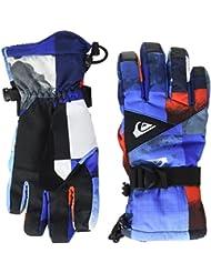 Quiksilver Mission Youth Guantes de Snowboard/Esquí, Hombre, Azul (Mandarin Red Pattern_1), L