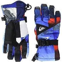 Quiksilver Mission Youth Guantes de Snowboard/Esquí, Hombre, Azul (Mandarin Red Pattern_1), M