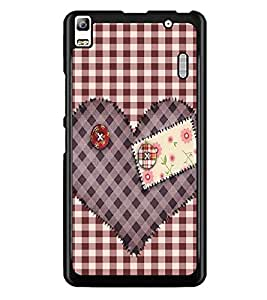 PrintDhaba Heart D-2258 Back Case Cover for LENOVO A7000 PLUS (Multi-Coloured)