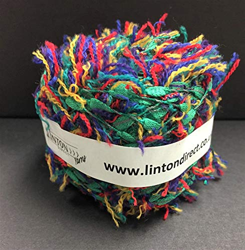 Linton Tweeds Multicoloured Textured Yarn | Unusual, Novelty Texture |  1 4NM/ 3 5NM | 68% Polyamide 25% Wool 7% Polyester
