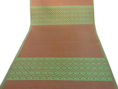 decorativi tappetino polipropilene motivo floreale verde tappeto marrone straccio di