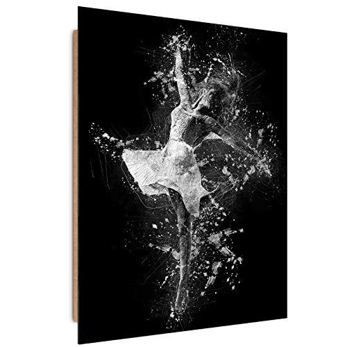 carowall CAROWALL.COM Wandbild XXL tanzende Frau Deko Kunst Bilder Skizze schwarz-weiß 70x100 cm