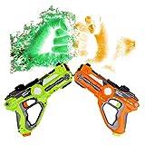 WISHTIME Laser Tag Blaster Toy Set Multiplayer Battle Shooting Game Active Toy Gun