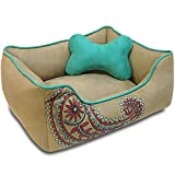 Best Pet Heavy Duty Crates - Blueberry Pet Heavy Duty Microsuede Overstuffed Bolster Lounge Review