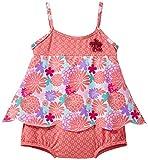 Archimede Baby - Mädchen Badeanzug, Geblümt, Gr. 98, Rosa (Pink/Light Blue/Red)